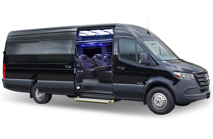 Royale limousine mercedes benz sprinter a cabot coach for Luxury mercedes benz sprinter