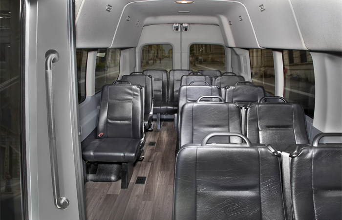 Ford 15 Passenger Van >> Transit Van – Bus Seating | Royale